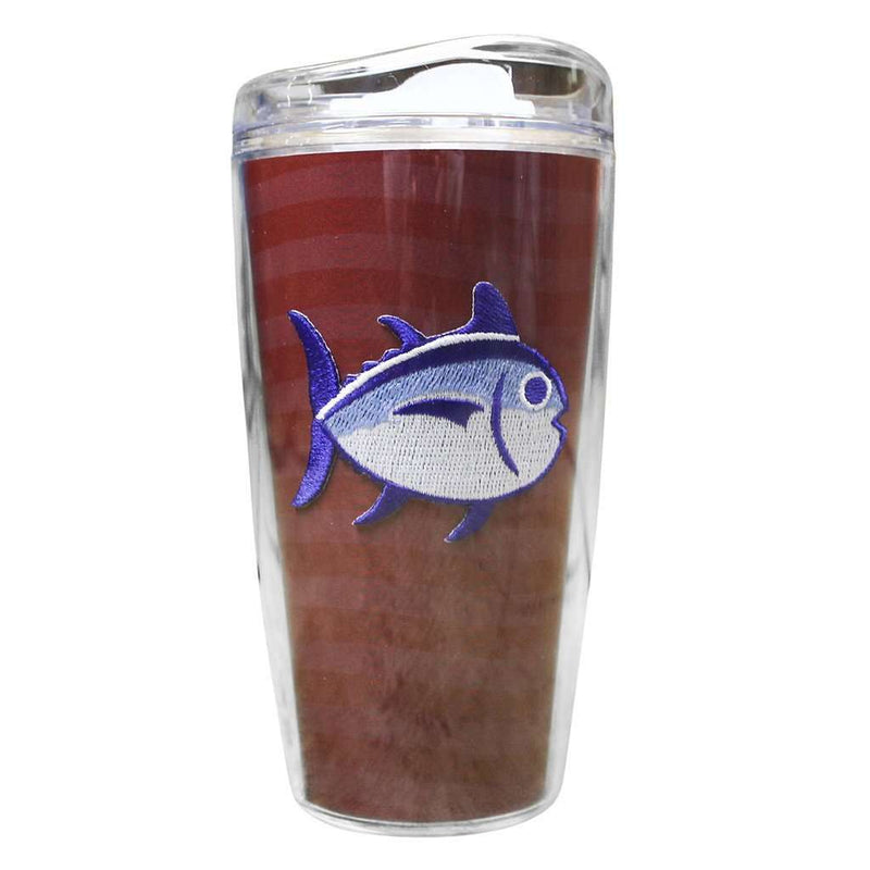 Team Colors 16oz Skipjack Tumbler in Crimson and White by Southern Tide