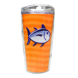 Team Colors 16oz Skipjack Tumbler in Endzone Orange and Regal Purple by Southern Tide