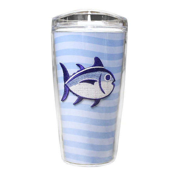 Team Colors 16oz Skipjack Tumbler in True Blue and White by Southern Tide
