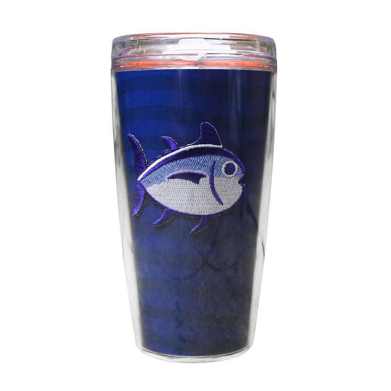 Team Colors 16oz Skipjack Tumbler in University Blue and Endzone Orange by Southern Tide
