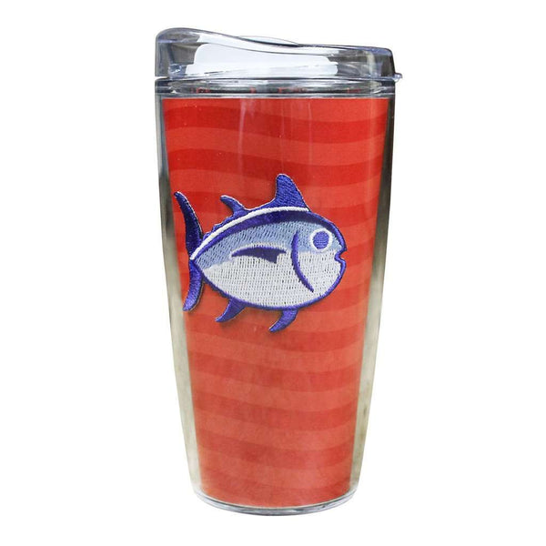 Team Colors 16oz Skipjack Tumbler in Varsity Red and Black by Southern Tide