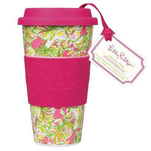 Travel Mug in Elephant Ears by Lilly Pulitzer