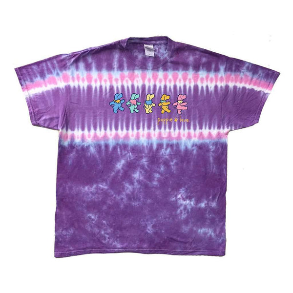 Country Club Prep Purple Stripe Tie Dye / S