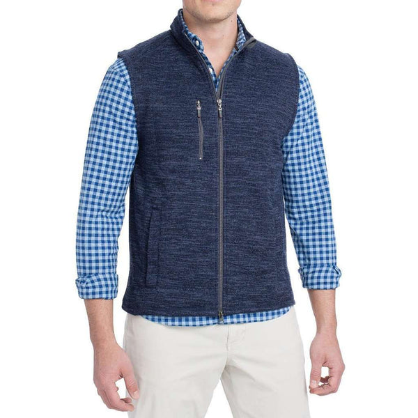 Johnnie-O Tahoe 2 Way Zip Front Fleece Vest by Johnnie-O