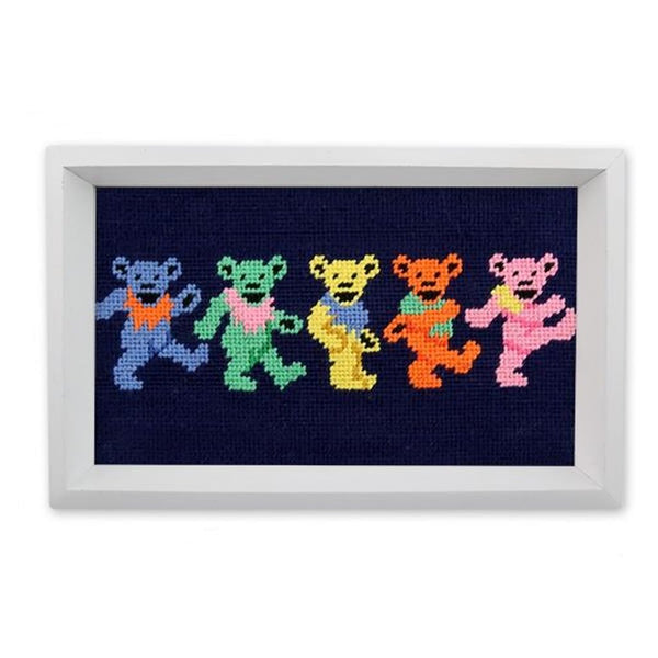 Dancing Bears Needlepoint Valet Tray by Smathers & Branson
