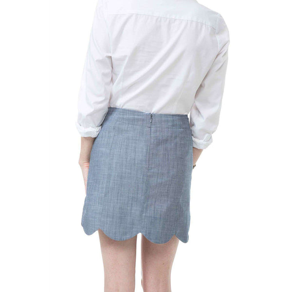 Dessie Skirt in Navy Chambray by Southern Proper - FINAL SALE