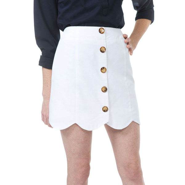 Dessie Skirt in White by Southern Proper  - 1