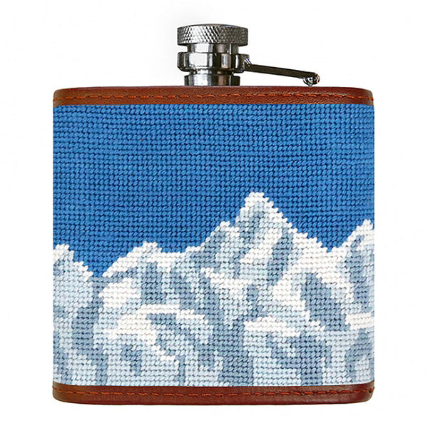 Ski Trails Needlepoint Flask by Smathers & Branson