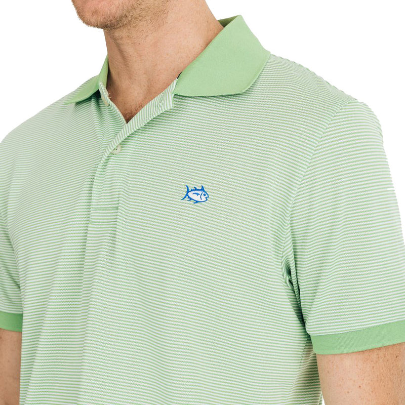 Jack Dinghy Striped Performance Pique Polo Shirt by Southern Tide