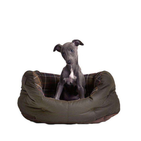 "Dog Bed - 18"" Wax Cotton Dog Bed By Barbour"
