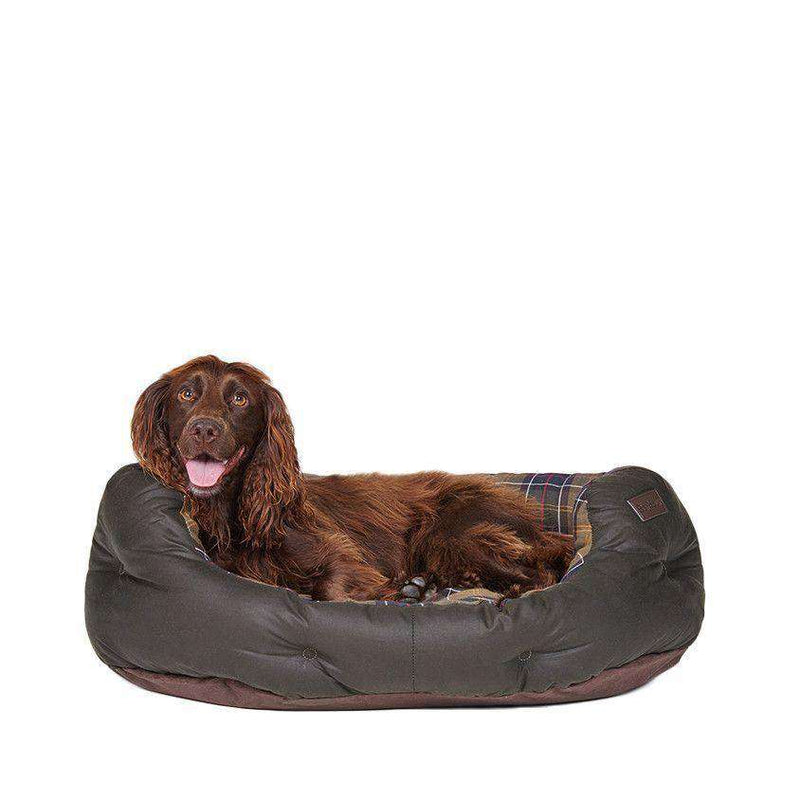 "Dog Bed - 30"" Wax Cotton Dog Bed By Barbour"
