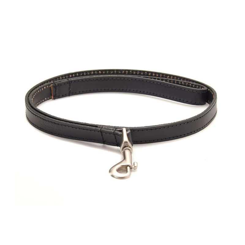 Leather Dog Lead in Black by Barbour - FINAL SALE