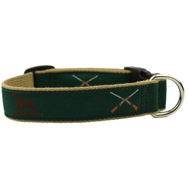 "Dog Collars - ""The Essentials"" Ribbon Collar In Hunter Green By Over Under Clothing"