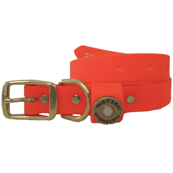 "Dog Collars - ""The Water Dog"" DuraHide Collar In Blaze Orange By Over Under Clothing"