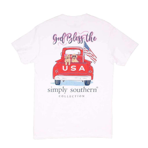 Preppy USA Tee in White by Simply Southern