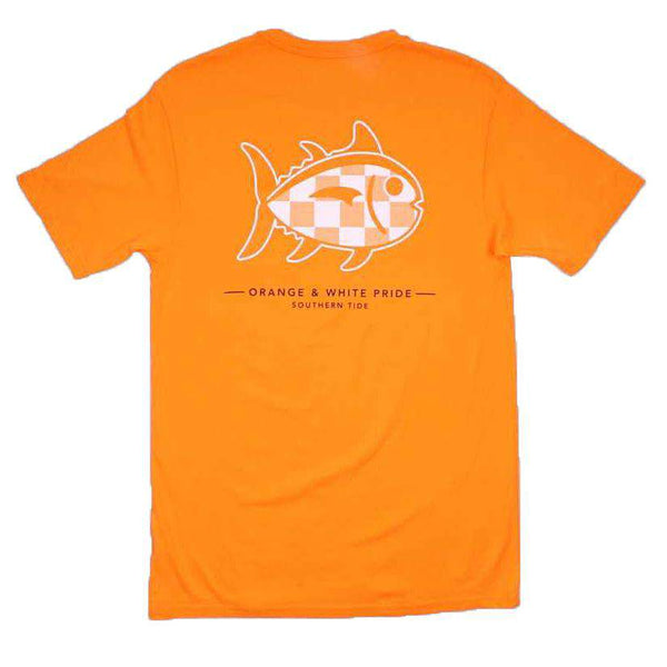 University of Tennessee Mascot Skipjack Tee Shirt in Rocky Top Orange by Southern Tide