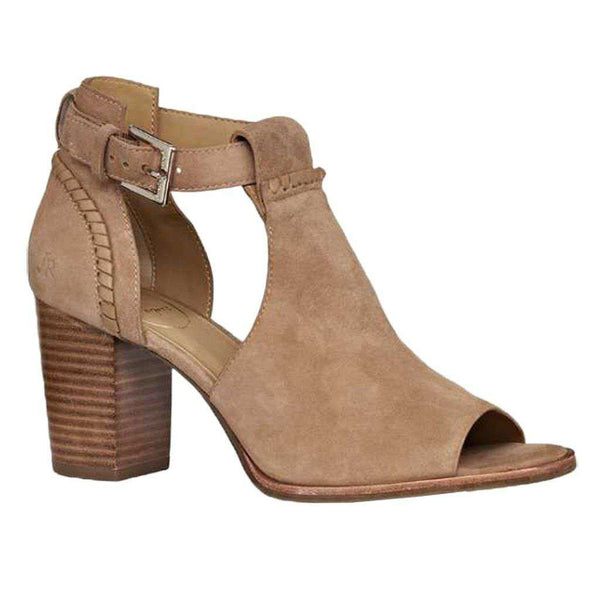 Cameron Suede Open Toe Bootie in Oak by Jack Rogers