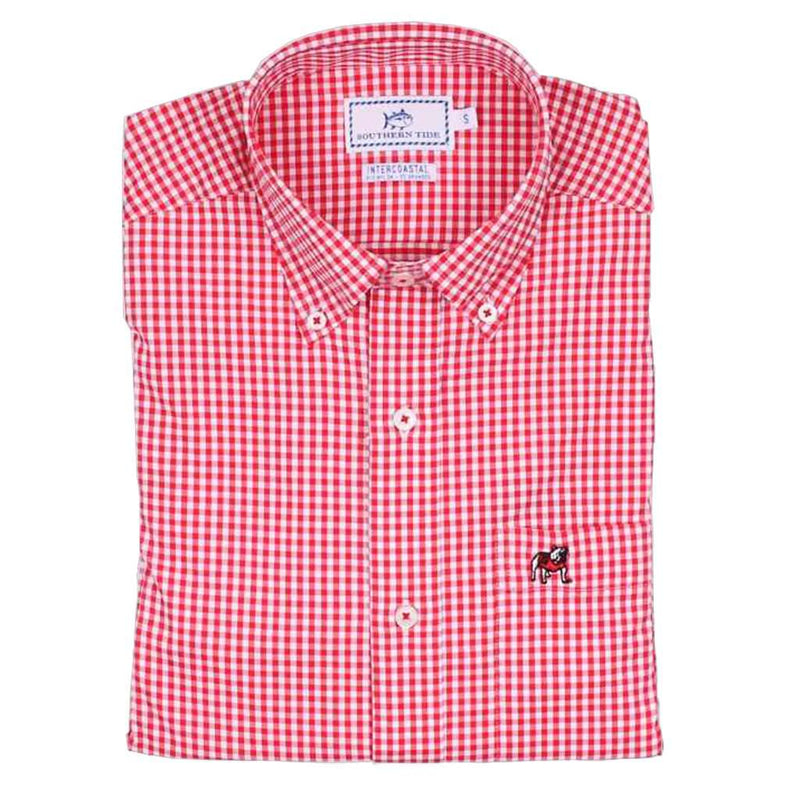 Men's University of Georgia Intercoastal Performance Shirt in Varsity Red by Southern Tide