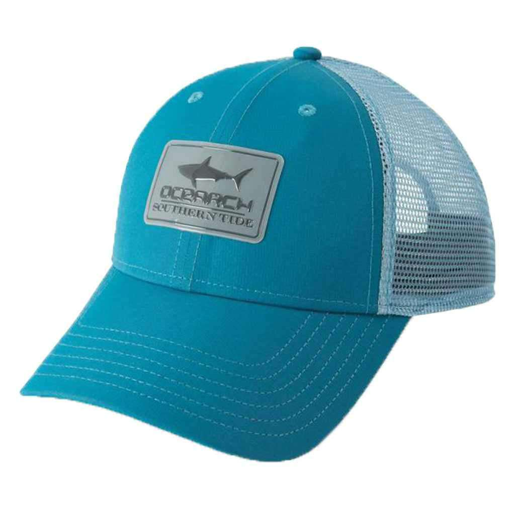 OCEARCH Washed Performance Trucker Hat in Dark Teal by Southern Tide