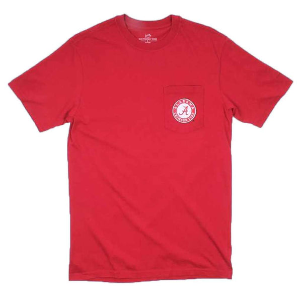 University of Alabama Mascot Skipjack Tee Shirt in Crimson by Southern Tide