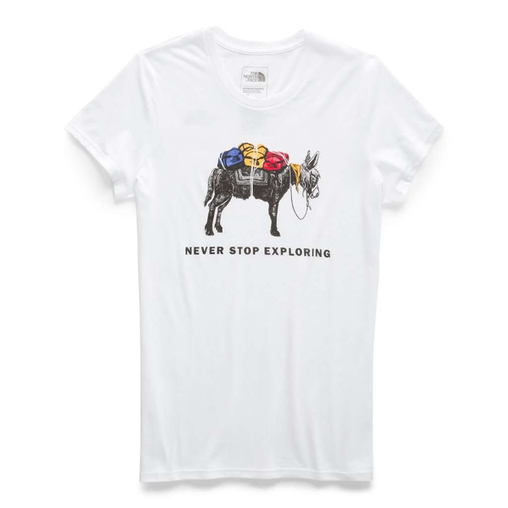 Women's Short Sleeve Pony Wheels Tri-Blend Tee by The North Face