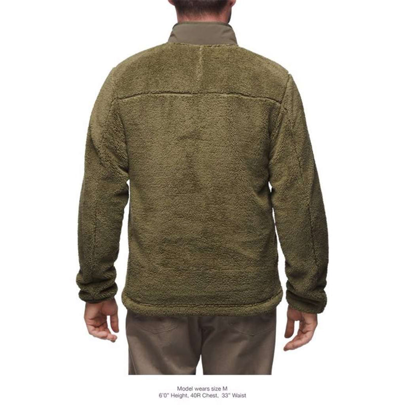 ece77680733 The North Face Men s Campshire Full Zip Sherpa Fleece in Burnt Olive Green