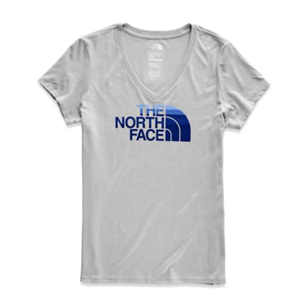 Women's Short Sleeve Half Dome V-Neck Tri-Blend Tee by The North Face