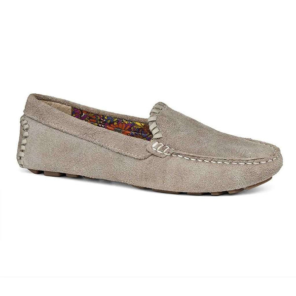 Taylor Suede Loafer in Dove Grey by Jack Rogers