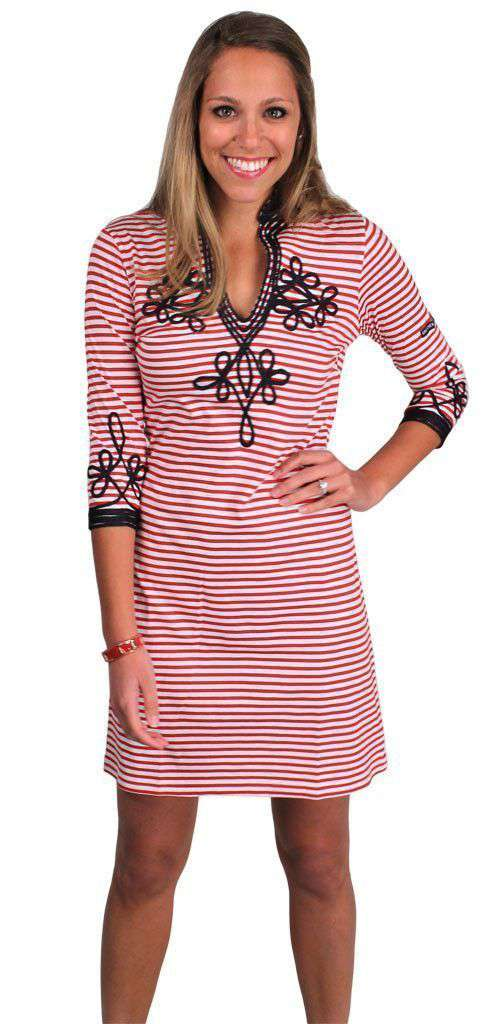 Admiral Tunic Dress in Red by Gretchen Scott Designs - FINAL SALE