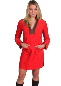 Dresses - Back In The Saddle Tunic Dress In Red By Sail To Sable - FINAL SALE