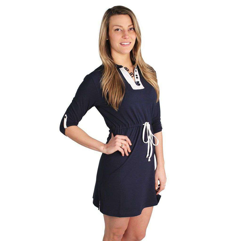 Dresses - Barrie Dress In Navy/White By Duffield Lane - FINAL SALE