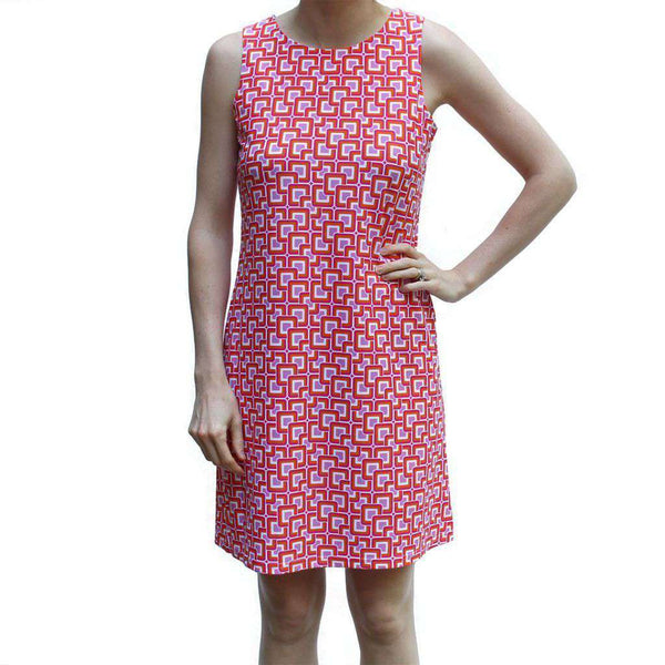 Beth Dress in Mod Square Coral by Jude Connally