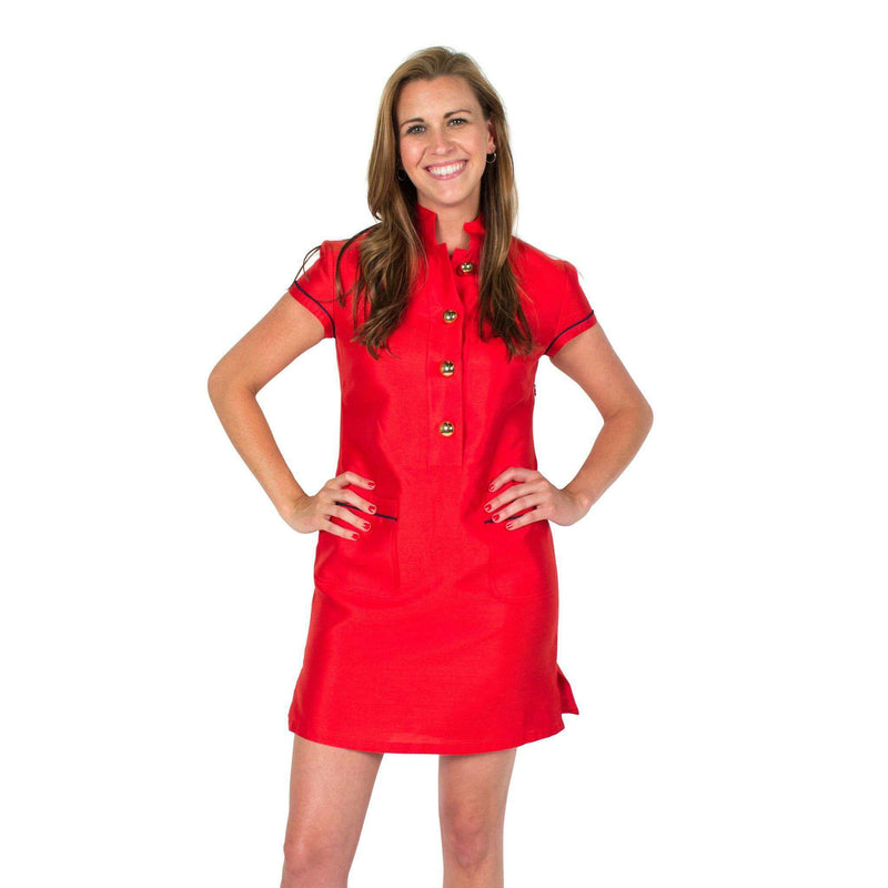 Dresses - Button Up Dress In Red By Sail To Sable