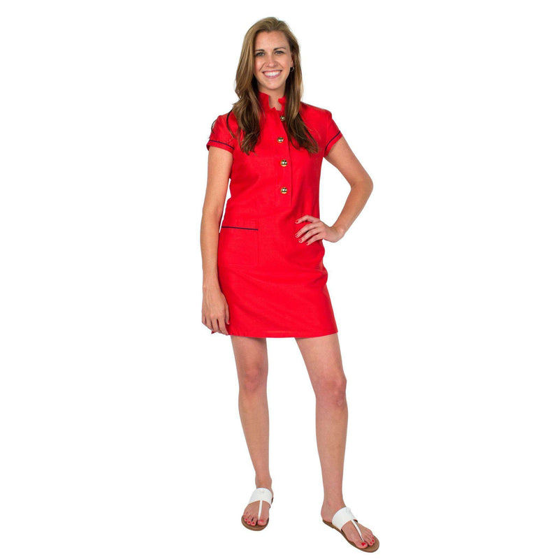 Button Up Dress in Red by Sail to Sable