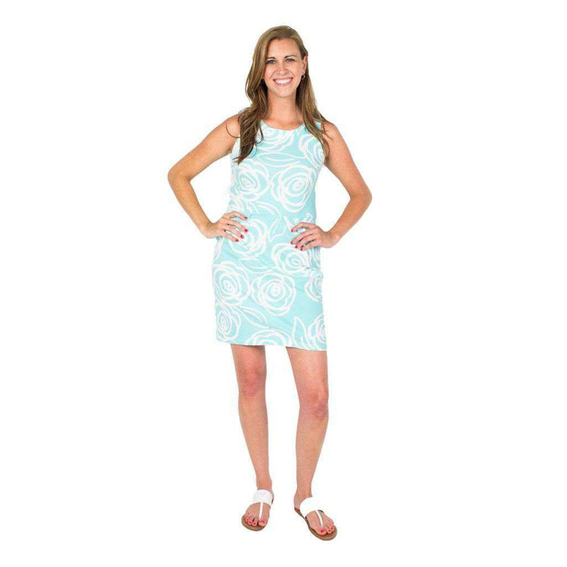 Dresses - Callie Roses Dress In Teal By Mahi Gold