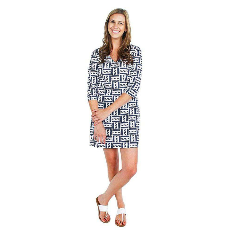 Dresses - Cape Cod Dress In Palm Navy By Mahi Gold