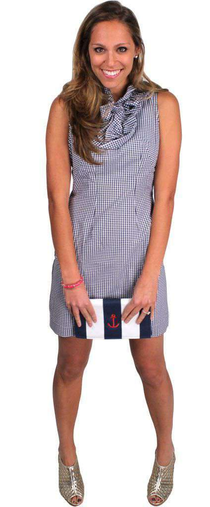 Dresses - Carolyn Dress In Navy Gingham By Just Madras