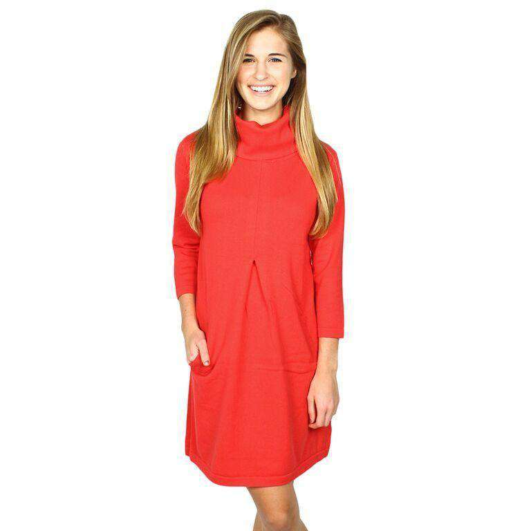 Dresses - Cashmere Kim Cowl Dress In Ruby By Tyler Boe