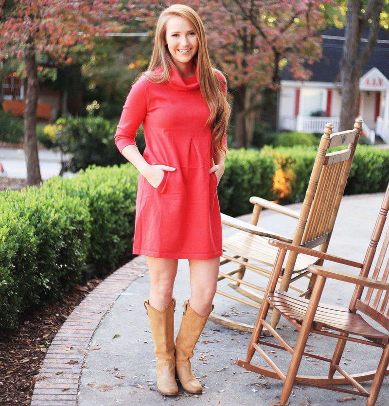 Cashmere Kim Cowl Dress in Ruby by Tyler Boe