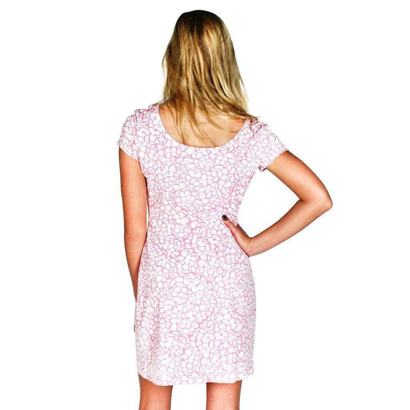 Dresses - Chatham Cloth Kate Dress In Ruth's Hydrangea Peony By Mahi Gold - FINAL SALE