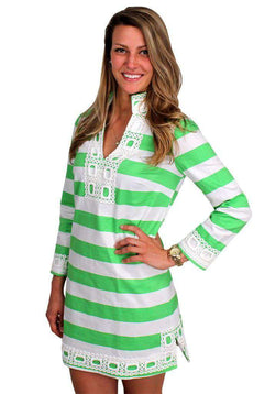Dresses - Cheers To Chic Tunic In Green By Sail To Sable