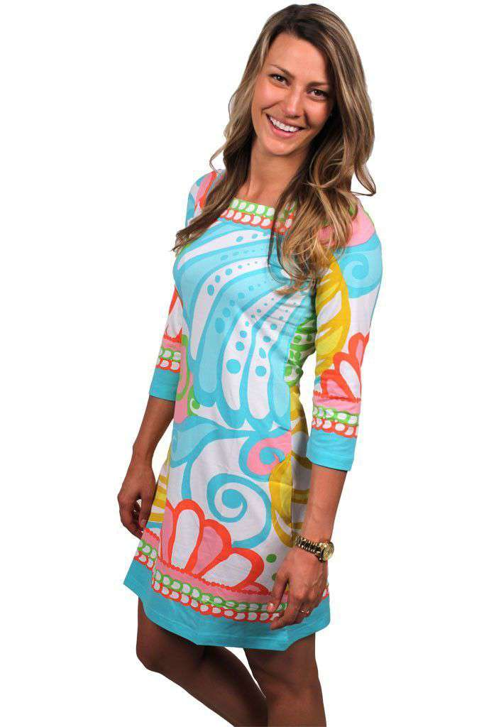 Dresses - Engineered Knit Square Neck Dress In Multicolor By Barbara Gerwit