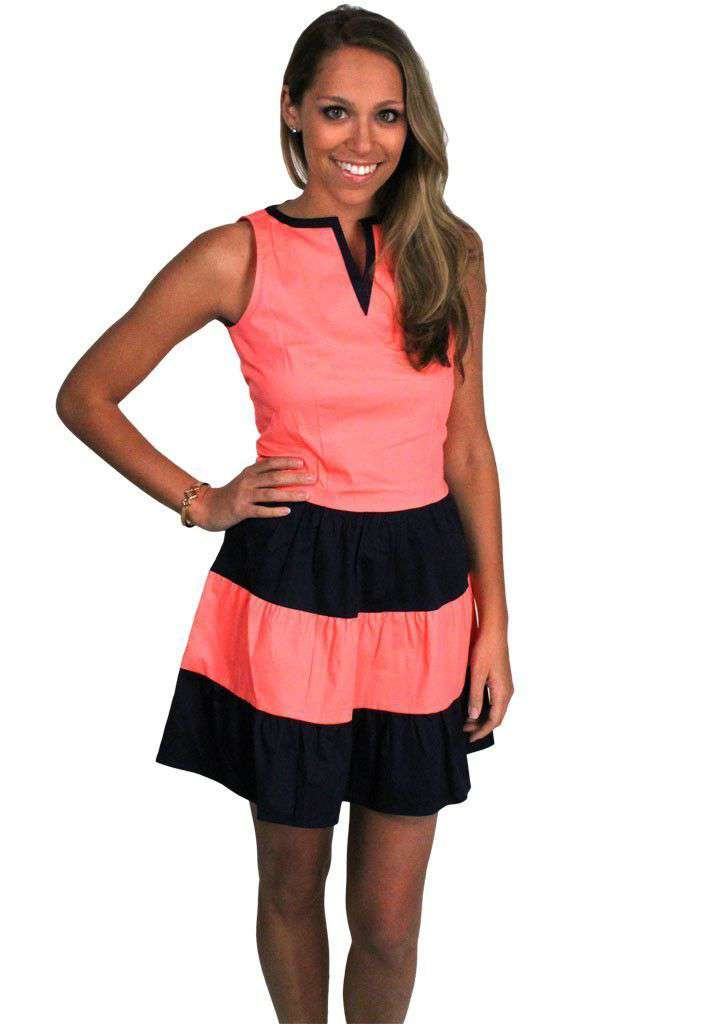 Flippin' Flirty Dress in Pink and Navy by Sail to Sable - FINAL SALE
