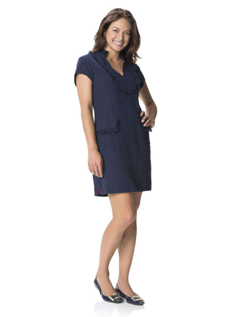 Dresses - Fringed On Fifth Dress In Navy By Sail To Sable