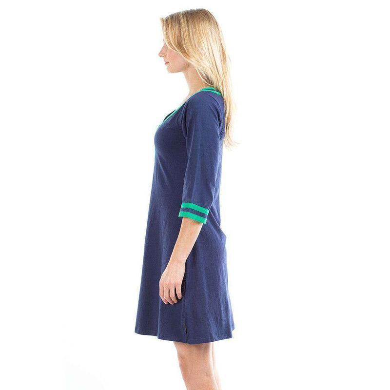 Dresses - Gabi Dress In Navy/Green By Duffield Lane - FINAL SALE