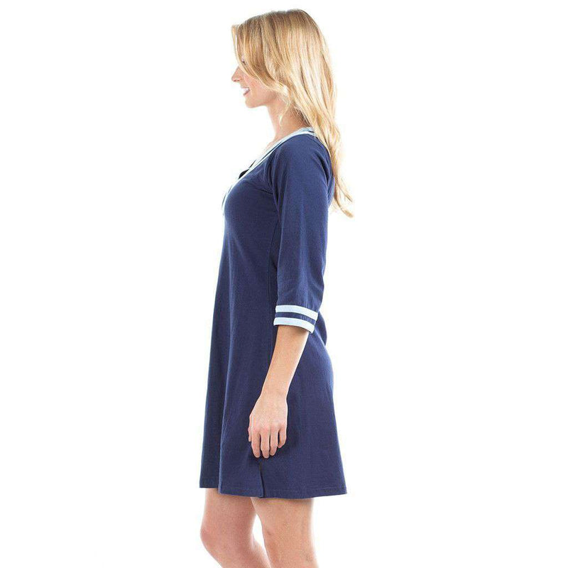 Gabi Dress in Navy/Sky by Duffield Lane - FINAL SALE