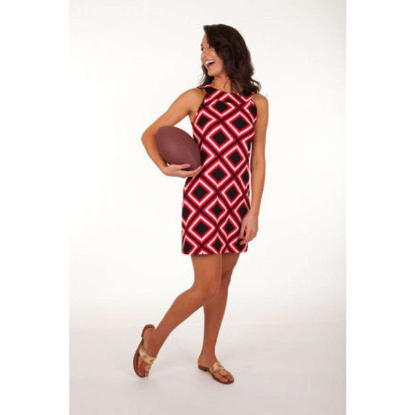 Gene Sleeveless Shift Dress in Black and Red by Tracy Negoshian - Final Sale