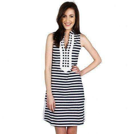 Grace Stripe Dress in Navy/White by Duffield Lane - FINAL SALE