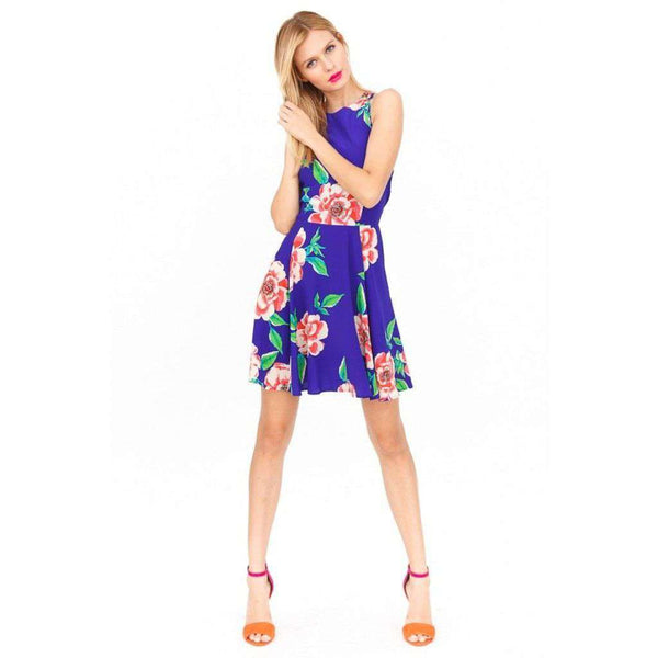 74be6f279a507 ... Dresses - Happy Hour Dress In Dodger Blue Rosebud By Yumi Kim