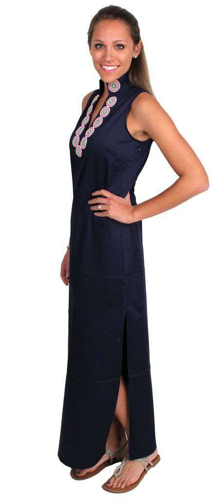 Dresses - It's All In The Details Maxi Dress In Navy By Sail To Sable